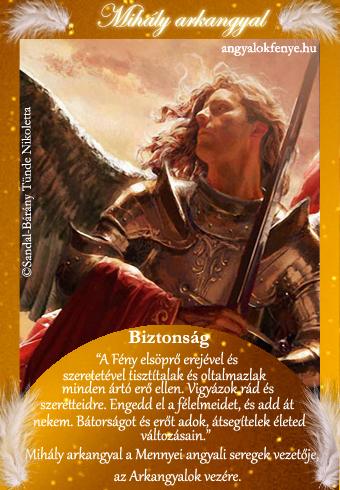 Mihály arkangyal kártya