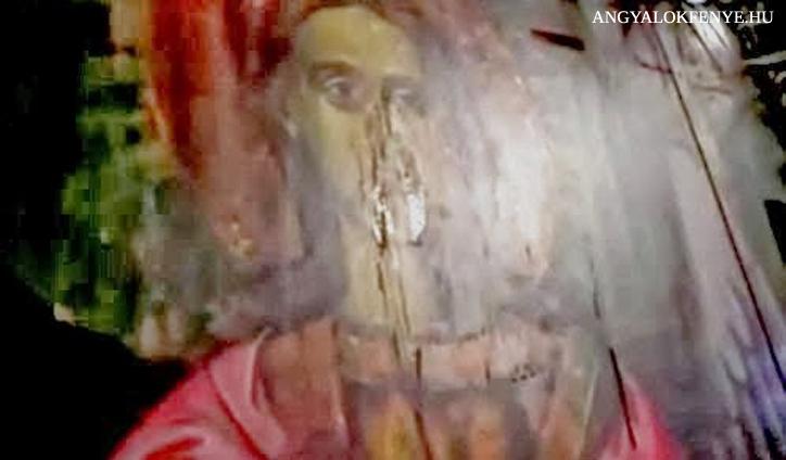 Könnyező festmény - Mihály arkangyal