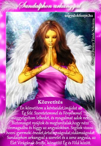 Sandalphon arkangyal kártya