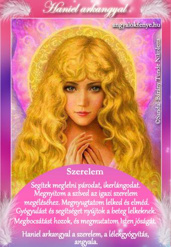 Haniel arkangyal kártya