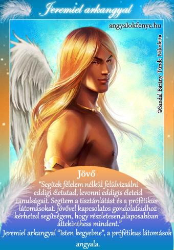 Jeremiel arkangyal kártya