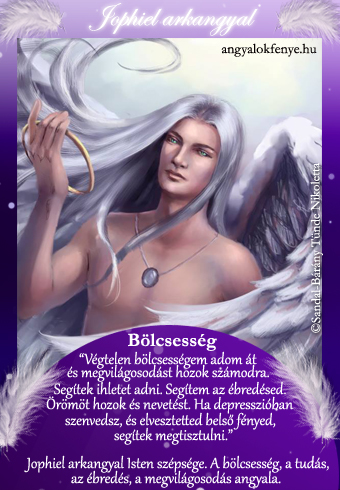 Jophiel arkangyal kártya