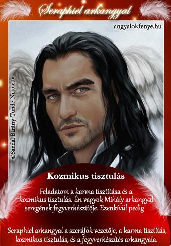 Seraphiel arkagyal kártya