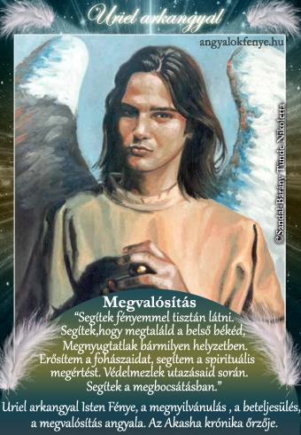 Uriel arkangyal kártya