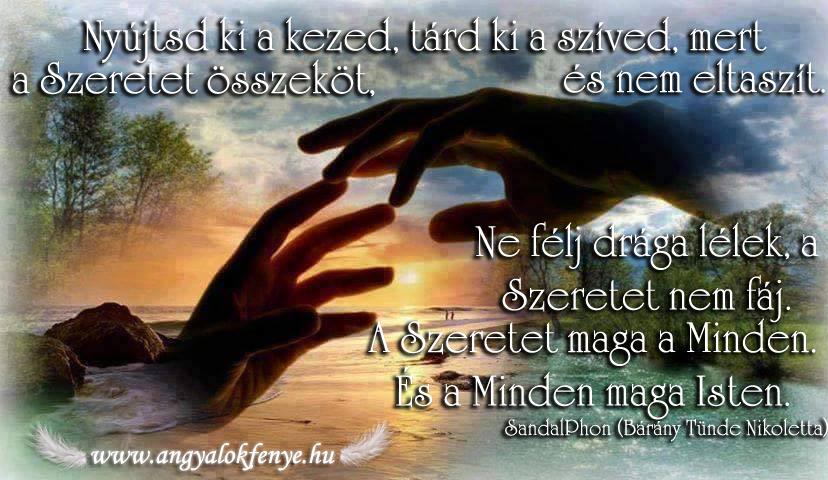 Angyali üzenet-Nyújtsd ki a kezed