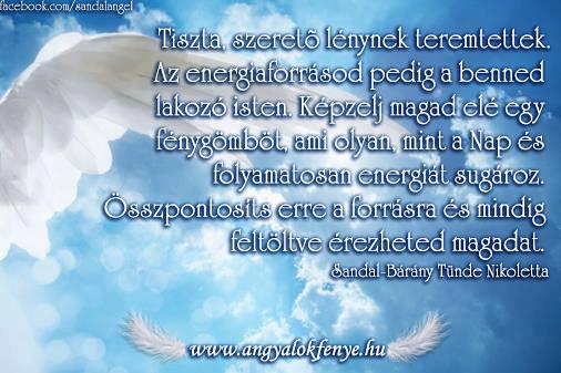 Angyali üzenet-Energiaforrásod a benned lakozó isten