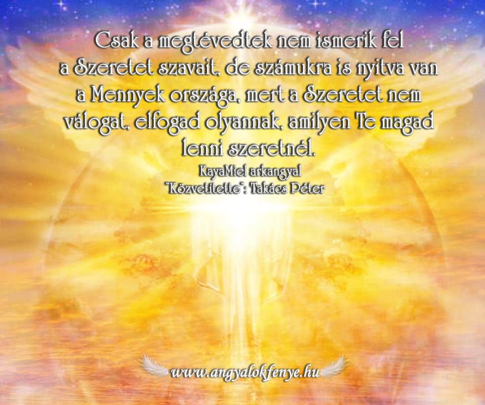 Kayamiel arkangyal üzenetei-A Szeretet elfogad