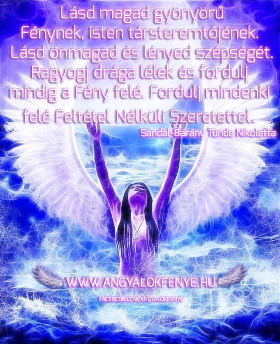 Angyali üzenet: Lásd magad Fénynek