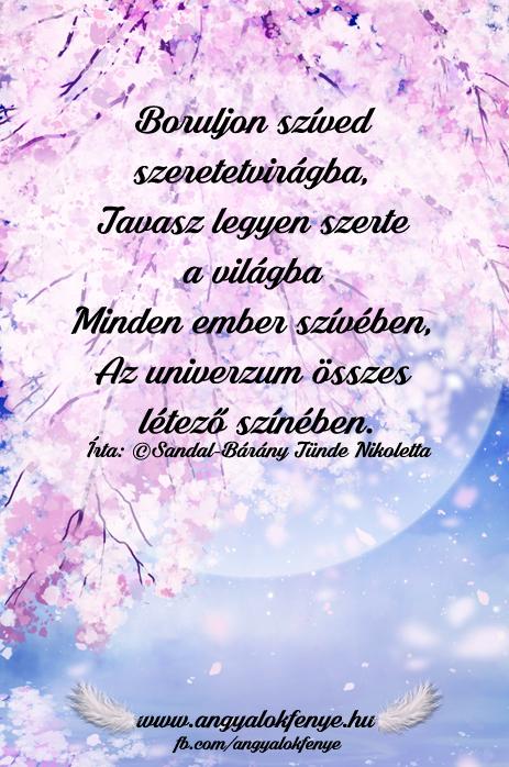 Angyali vers-üzenet-Boruljon szíved szeretetvirágba