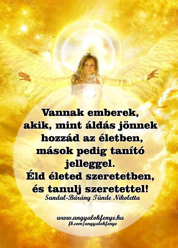 Angyali üzenet-Áldás és tanítás