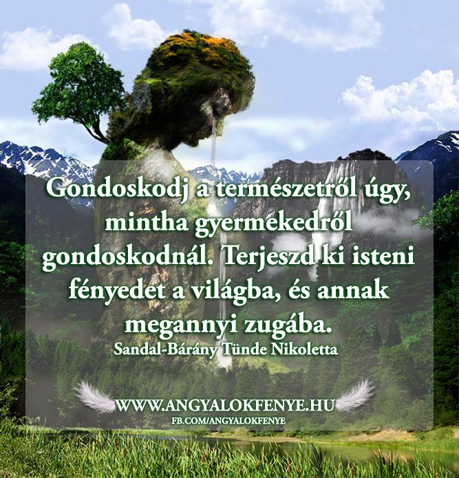 Angyali üzenet-Gondoskodj a természetről