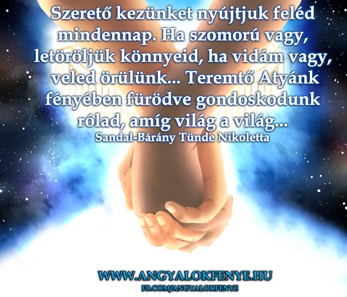 Angyali üzenet-Szerető kezünket nyújtjuk