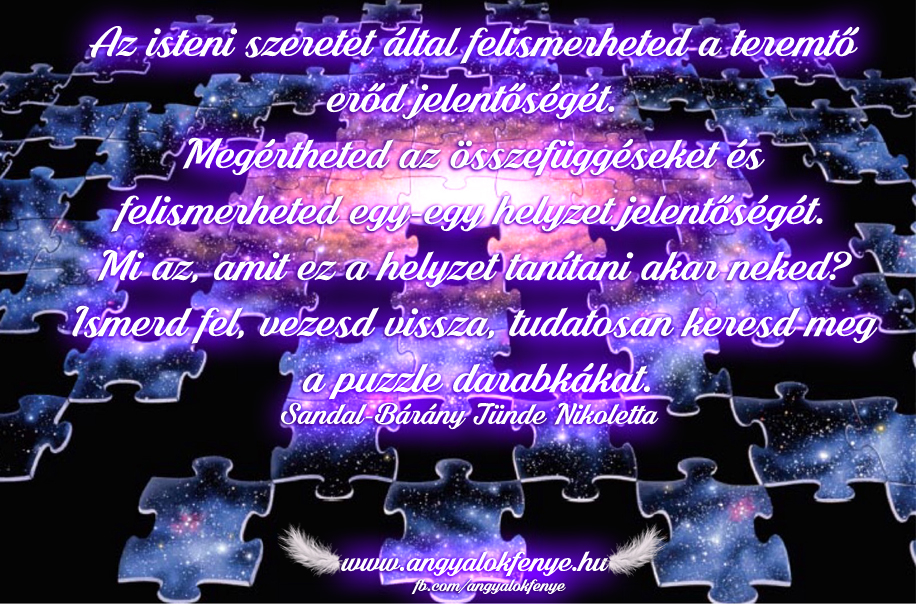 Angyali üzenet-Ismerd fel és keresd a puzzle darabkákat