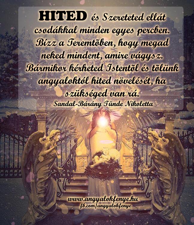 Angyali üzenet-HITED és Szereteted ellát csodákkal