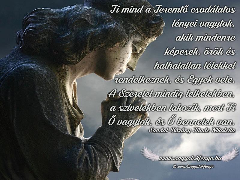 Angyali üzenet-Mind a Teremtő csodálatos lényei vagytok