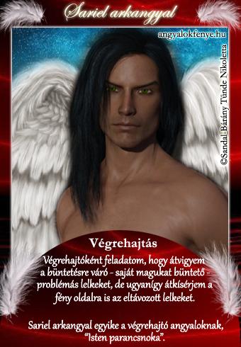 Sariel arkangyal kártya