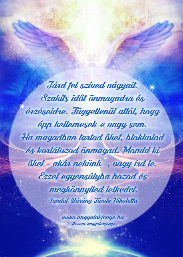 Angyali üzenet-Tárd fel szíved vágyait