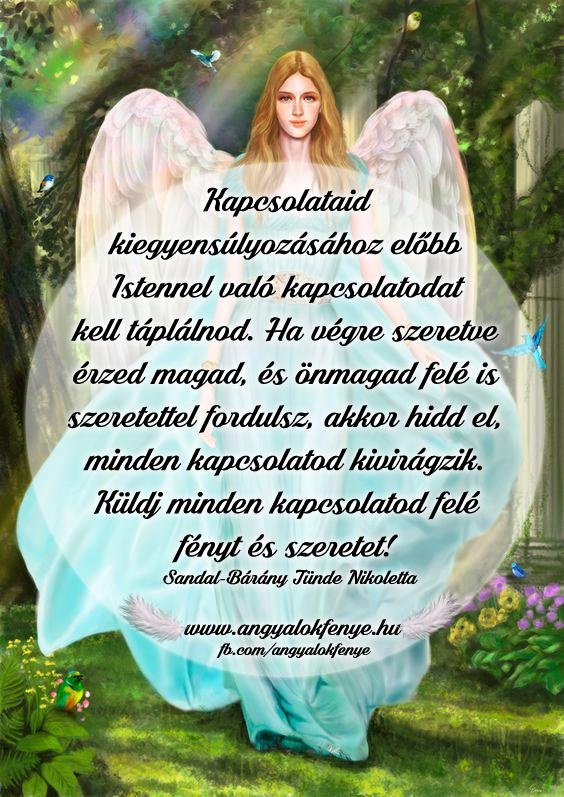Angyali üzenet-Kapcsolataid kiegyensúlyozása