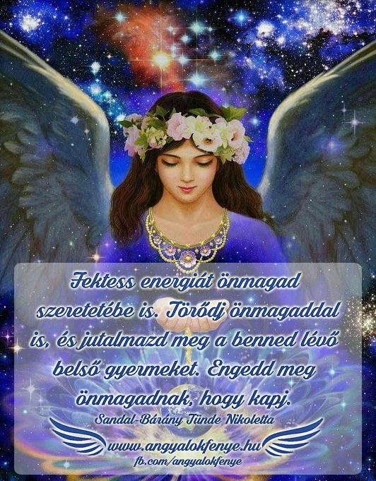 Angyali üzenet-Fektess energiát önmagad szeretetébe is