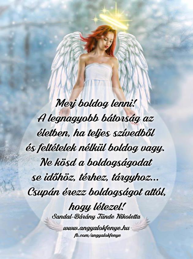 Angyali üzenet-Merj boldog lenni