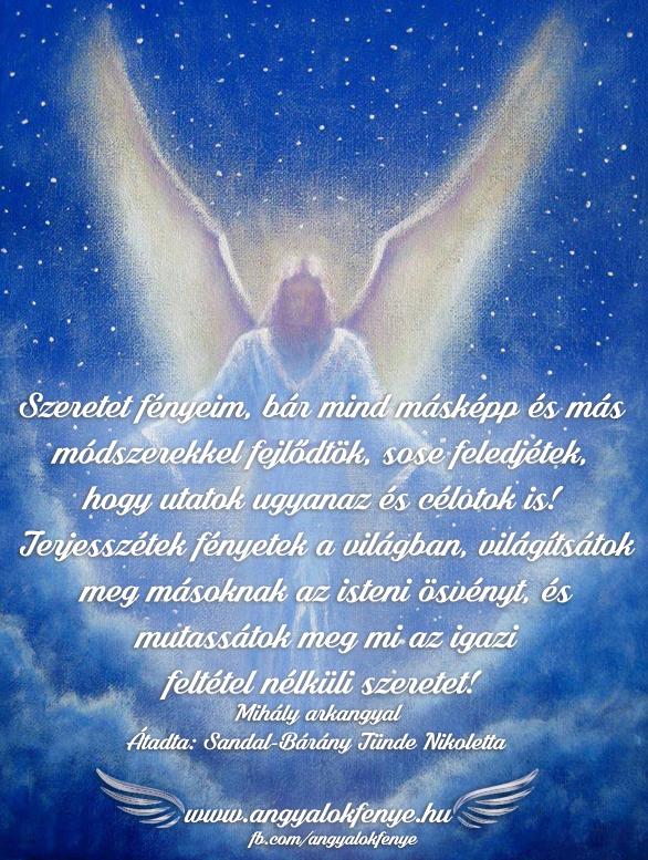 Mihály arkangyal-Terjesszétek fényetek a világban