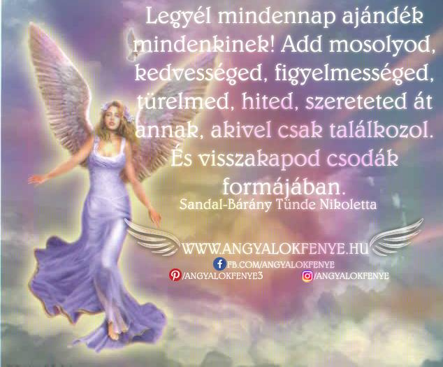 Angyali üzenet-Legyél mindennap ajándék mindenkinek