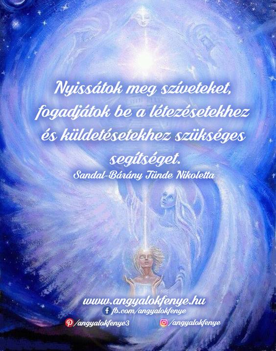 Angyali üzenet-Nyissátok meg szíveteket