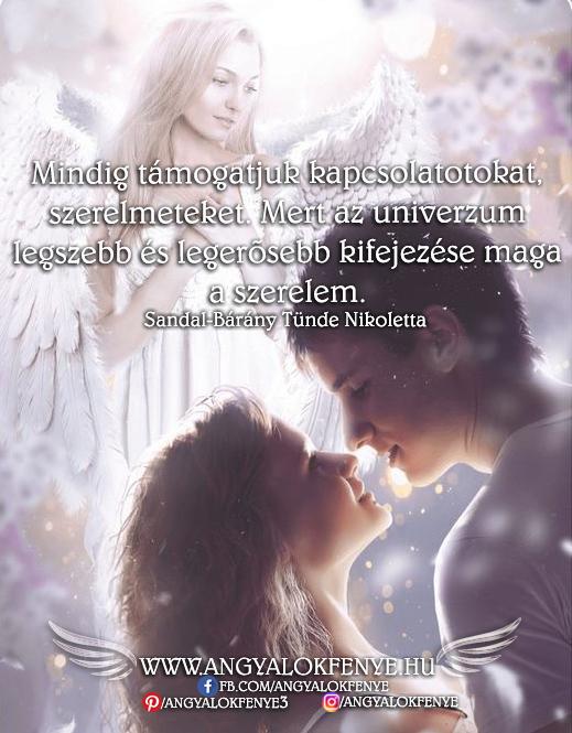 Angyali üzenet-Mindig támogatjuk kapcsolatotokat