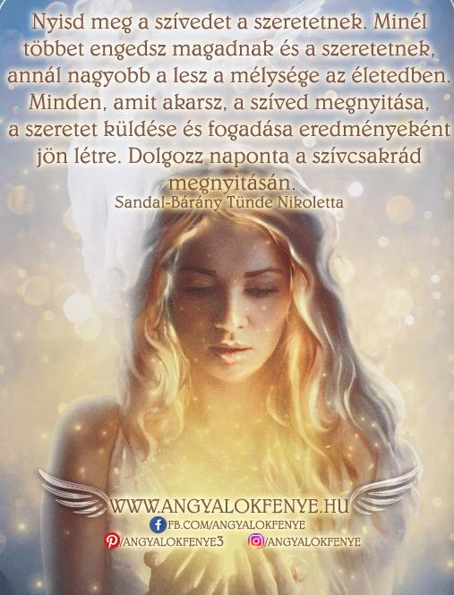 Angyali üzenet-Nyisd meg a szívedet a szeretetnek