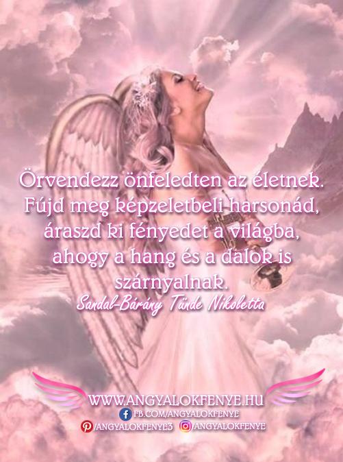 Angyali üzenet-Örvendezz önfeledten az életnek