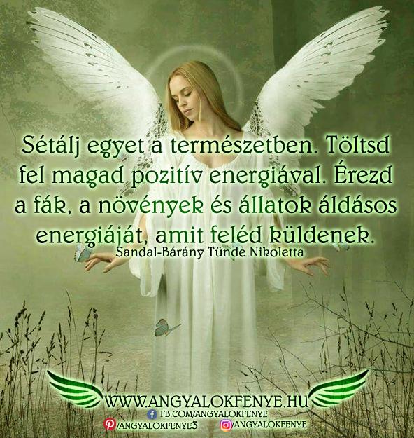 Angyali üzenet-Sétálj egyet a természetben