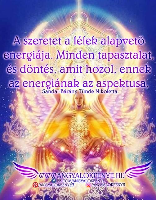 Angyali üzenet-A szeretet a lélek alapvető energiája
