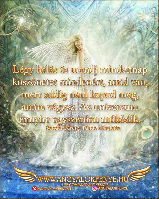 Angyali üzenet-Légy hálás és mondj mindennap köszönetet