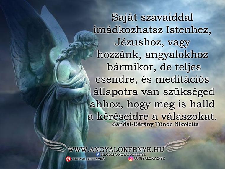 Angyali üzenet-Saját szavaiddal imádkozhatsz