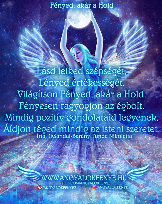 Angyali vers-üzenet-Fényed, akár a Hold