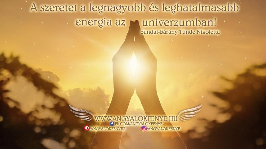 Angyali üzenet-A szeretet a legnagyobb energia