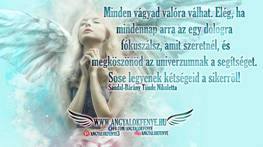 Angyali üzenet-Minden vágyad valóra válhat