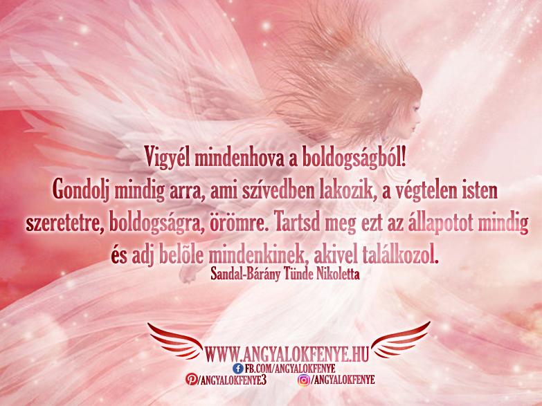 Angyali üzenet-Vigyél mindenhova a boldogságból