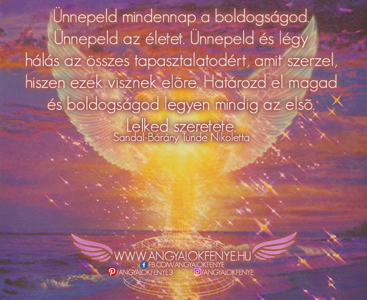 Angyali üzenet-Ünnepeld mindennap a boldogságod