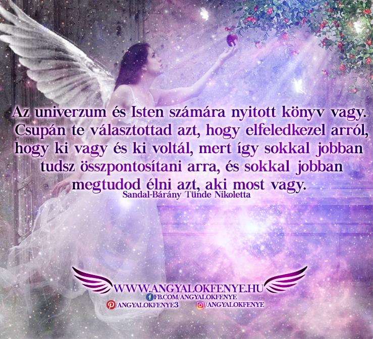 Angyali üzenet-Az univerzum és Isten számára nyitott könyv vagy