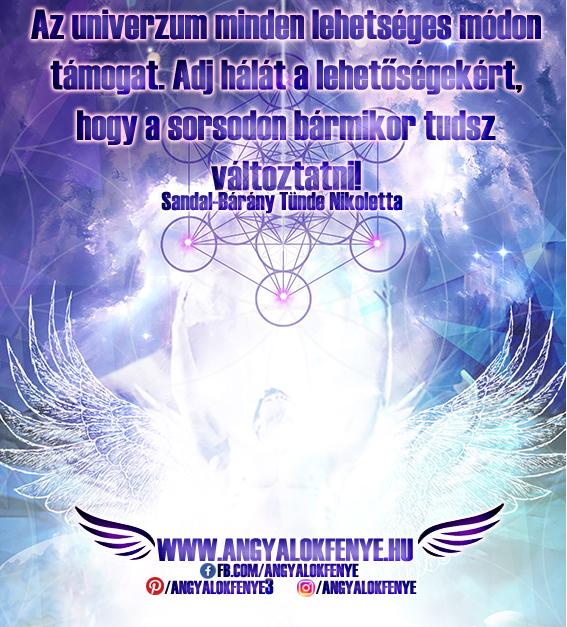 Angyali üzenet-Az univerzum minden lehetséges módon támogat