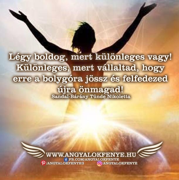 Angyali üzenet-Légy boldog, mert különleges vagy