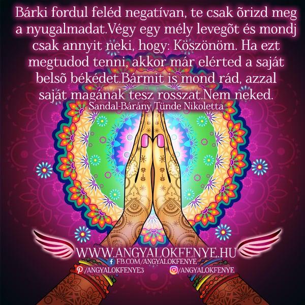 Angyali üzenet-Őrizd meg a nyugalmadat