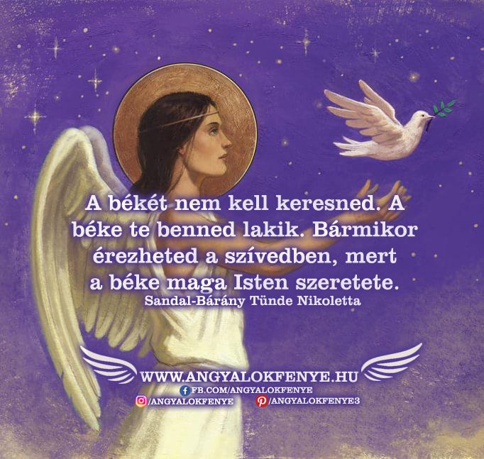 Angyali üzenet-A békét nem kell keresned
