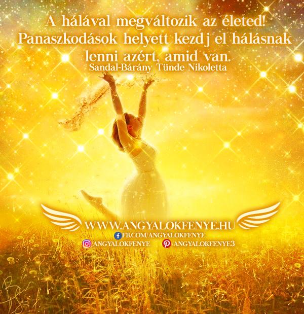 Angyali üzenet-A hálával megváltozik az életed