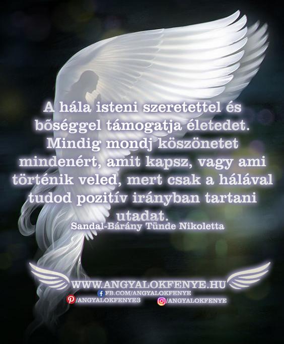 Angyali üzenet-A hála isteni szeretettel és bőséggel támogatja életed
