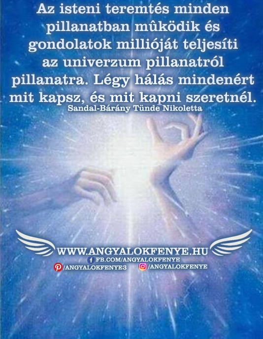 Angyali üzenet-Az isteni teremtés minden pillanatban működik