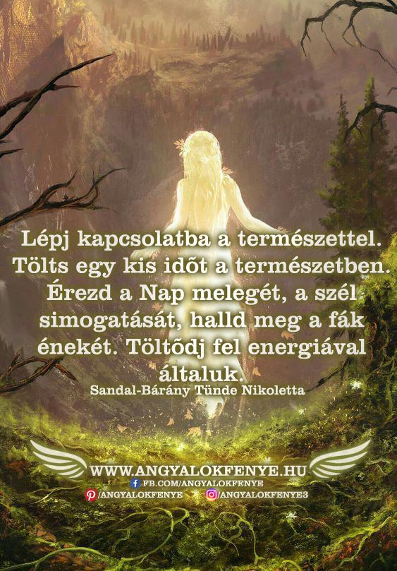 Angyali üzenet-Lépj kapcsolatba a természettel
