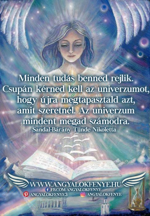 Angyali üzenet-Minden tudás benned rejlik