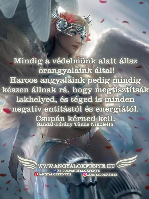 Angyali üzenet-Mindig a védelmünk alatt állsz